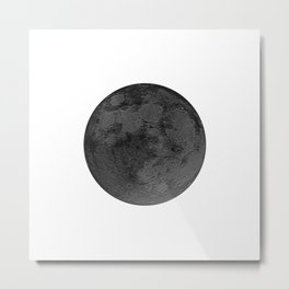BLACK MOON Metal Print