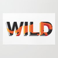 into the wild Area & Throw Rugs featuring wild by Lasse Egholm