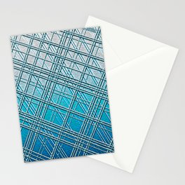 Steel Blue Sky Lines Stationery Cards