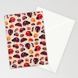 Lady beetles Stationery Cards