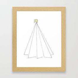 Paper Tree Framed Art Print