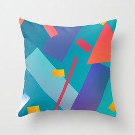 80s inspired art Throw Pillow