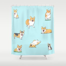 Corgi Shower Curtain