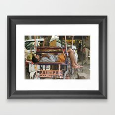 Delhi Sleeper Framed Art Print