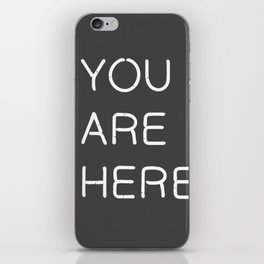 You Are Here-Neon Lights iPhone Skin