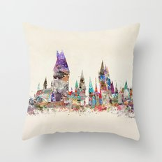 hogwarts school of magic Throw Pillow