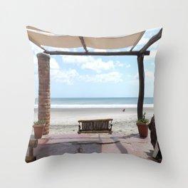 Guastacate Beach, Nicaragua Throw Pillow