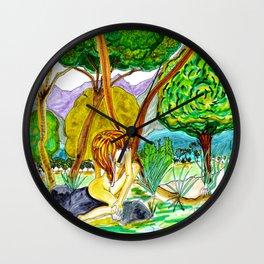 Palm Rock Wall Clock