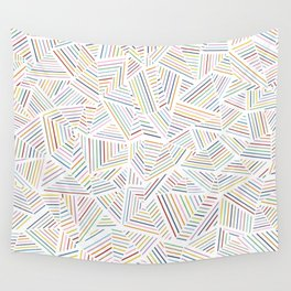 Abstraction Linear Rainbow Wall Tapestry