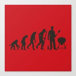BBQ evolution Canvas Print