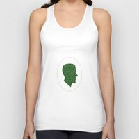 lovecraft Tank Tops featuring Lovecraft Silhouette by RAdesigns