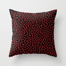 RED TRI Throw Pillow