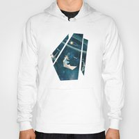 surrealism Hoodies featuring My Favourite Swing Ride by Paula Belle Flores