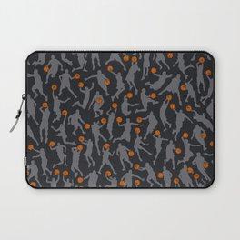 Basketball Player Pattern BLACK Laptop Sleeve