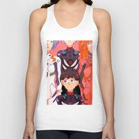 evangelion Tank Tops featuring Evangelion Kids by minthues