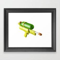 Water Gun Framed Art Print