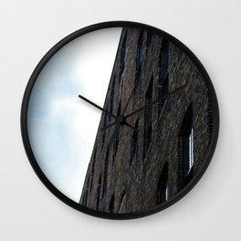 Black Brick Wall Clock