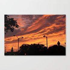 Pink and Orange Sunset Canvas Print