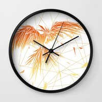 phoenix Wall Clocks featuring Phoenix by ARCHIGRAF