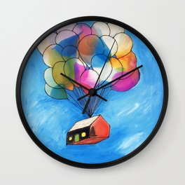 Rise of the Balloon Wall Clock