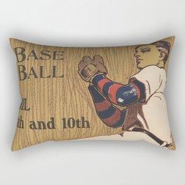 Vintage Baseball Pitcher Illustration (1905) Rectangular Pillow