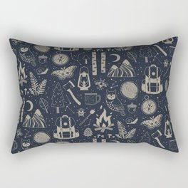Into the Woods: Stargazing Rectangular Pillow
