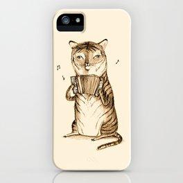 Accordion Tiger iPhone Case