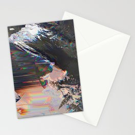 Glitched Landscape 1 Stationery Cards