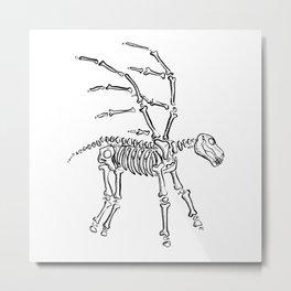 Pegasus Skeleton Metal Print