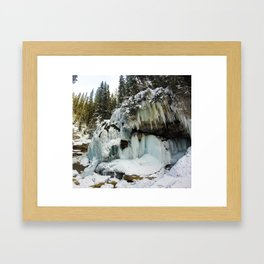 The Grotto Ice cave in Maligne Canyon Framed Art Print