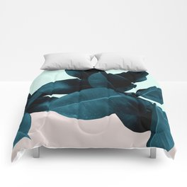 Blue Leaves Comforters