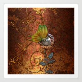 Steampunk butterfly Art Print
