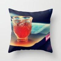 arabic Throw Pillows featuring Arabic Coffee by Grim99