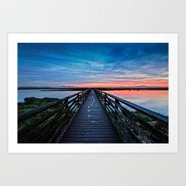 Sunrise Bolsa Chica Wetlands  4/9/14 Art Print