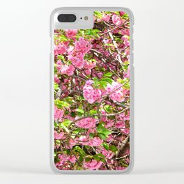 Blossom and Be Happy! Clear iPhone Case