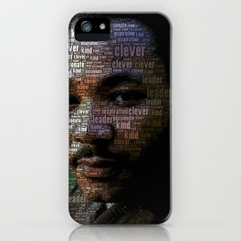 African American Martin Luther King Memorial Portrait iPhone Case