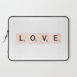 LOVE Scrabble Tiles Horizontal Laptop Sleeve