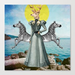 Lady Deer Canvas Print