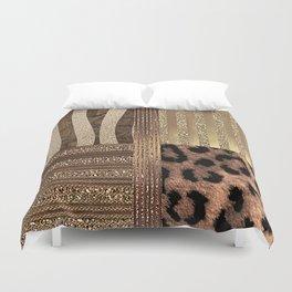 Gold Lioness Safari Chic Duvet Cover