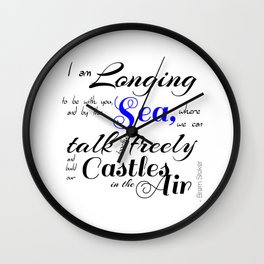 Castles In The Air - Book Quote from Dracula by Bram Stoker Wall Clock