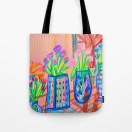Flowers at Dawn Tote Bag