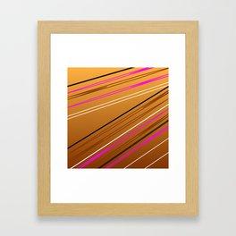 Soft Brown Framed Art Print