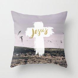 JESUS   EASTER   CROSS Throw Pillow