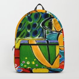 Henri Matisse - Cat With Red Fish still life painting Backpack