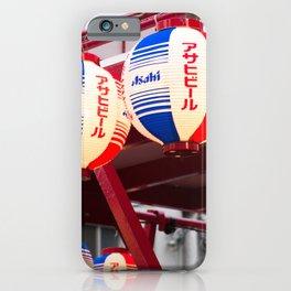 Asahi beer lanterns iPhone Case