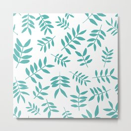 Background with branch silhouettes. Metal Print