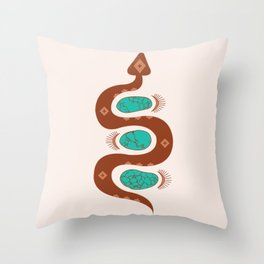 Southwestern Slither Throw Pillow