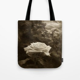 Pink Roses in Anzures 5 Antiqued Tote Bag