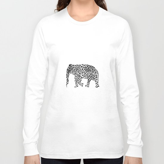 Elephant with leopard pattern Long Sleeve T-shirt
