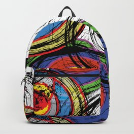 Urban Grunge Graffiti Swirl Backpack
